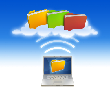 computer and files in clouds Online storage – a possible alternative